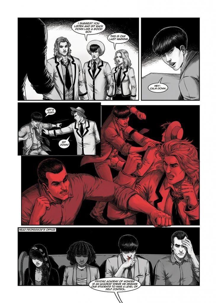 Graphic novel PSYCHIC ACADEMY OF WONDER